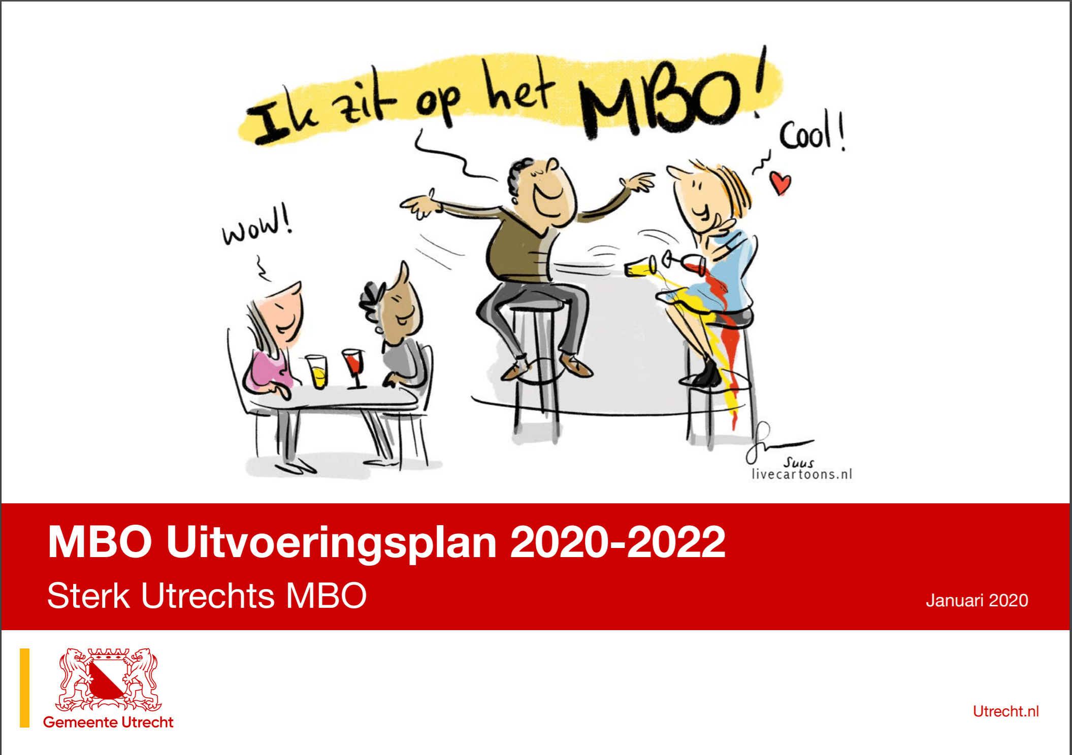 Live-cartoons Sterk Utrechts MBO